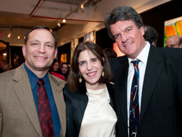 "Jeremy Beck, Patricia Marx, and stage director Don Rierson at the New York premiere of ""Review"""